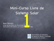 Mini-Curso Livre de Sistema Solar - Departamento de Matemática ...