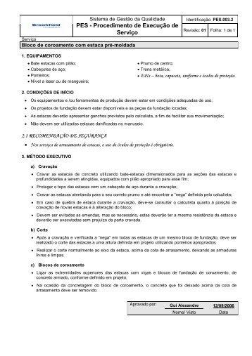 PES.003.2 Bloco de coroamento com estaca pré-moldada - AllProject