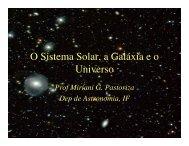 O Sistema Solar, a Galáxia e o Universo