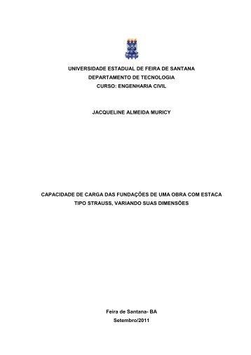 jacqueline almeida muricy - acessos - Universidade Estadual de ...