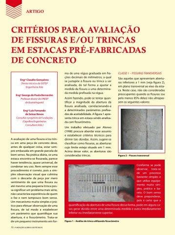critérios para avaliação de fissuras e/ou trincas - Revista Fundações ...