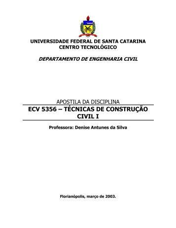 Apostila Tecnicas da Construção Civil I - NPC - Universidade ...