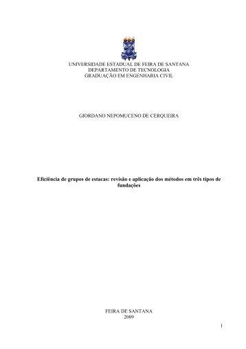 giordano nepomuceno de cerqueira - acessos - Universidade ...
