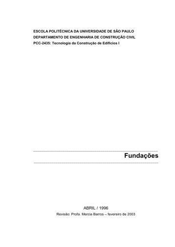 Fundações - PCC 2435
