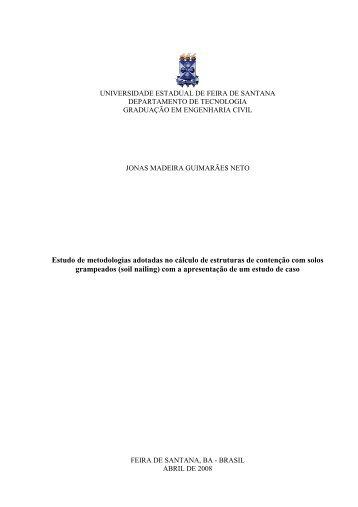 jonas madeira guimarães neto - Universidade Estadual de Feira de ...