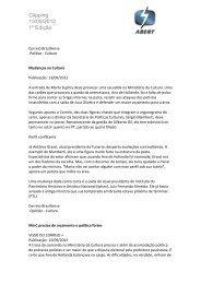 Clipping 13/09/2012 1º Edição - Abert