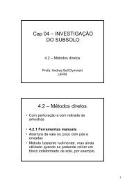 Cap 04 – INVESTIGAÇÃO DO SUBSOLO - Cesec