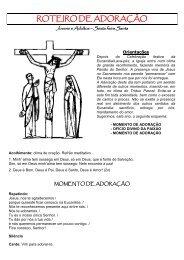 roteiro de adoração para jovens e adultos - Paróquia Santo Alberto ...