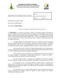 Parecer nº /2002-CEDF - conselho de educação do df