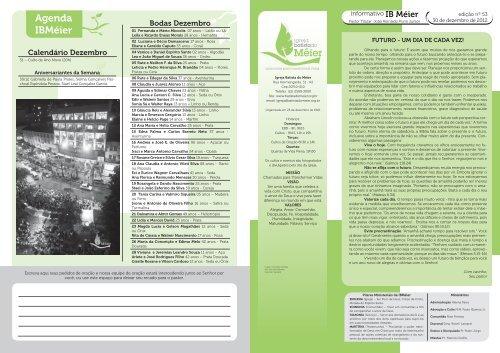 boletim 30-12-2012.indd - Igreja Batista do Méier