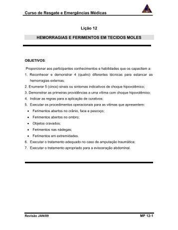 Hemorragias e Ferimentos em Tecidos Moles - Aulas e Material de ...