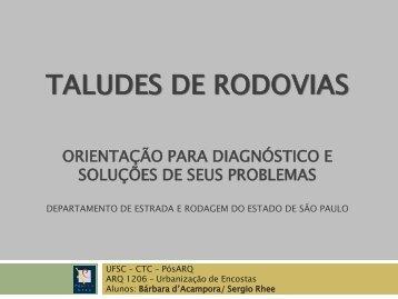 TALUDES DE RODOVIAS - UFSC