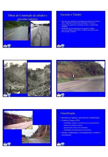 Obras de Contenção de taludes e encostas naturais