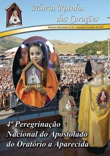 4ª Peregrinação Nacional do Apostolado do Oratório a Aparecida