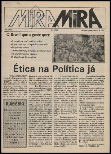 Ética na Política já - Centro de Documentação e Pesquisa Vergueiro