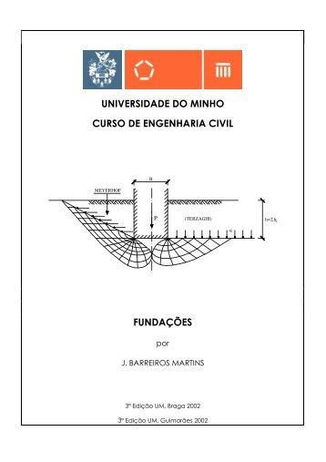 universidade do minho curso de engenharia civil fundações
