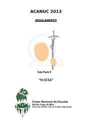 ACANUC 2013 - Núcleo Cego do Maio - Corpo Nacional de Escutas