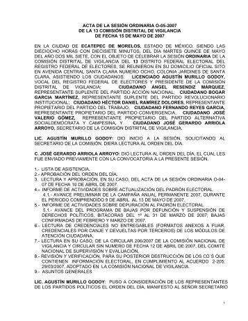 ACTA DE LA SESIN ORDINARIA O-10-2006 - Instituto Federal ...