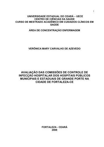 Avaliação das Comissões de Controle de Infecção Hospitalar