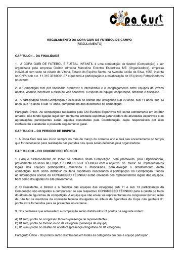 regulamento da copa guri de futebol de campo - CM Eventos ...