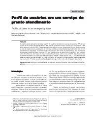 Perfil de usuários em um serviço de pronto atendimento - Revista ...