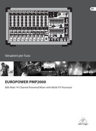 EUROPOWER PMP2000 - Behringer