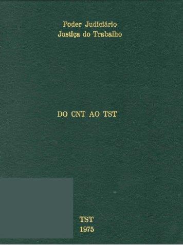 Do Conselho Nacional do Trabalho (CNT) - TST
