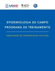 EPIDEMIOLOGIA DE CAMPO PROGRAMA DE TREINAMENTO