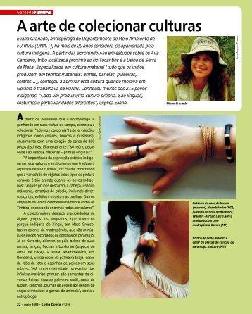 Eliana Granado: A arte de colecionar culturas - Furnas