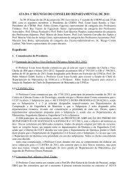 ATA 01/11 - Departamento de Matemática - UFSCar
