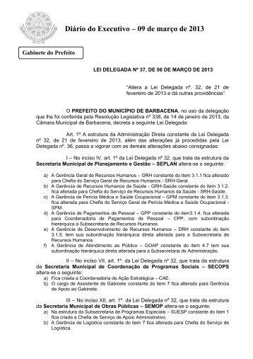 Diário Oficial do Executivo 09/03/2013 - Prefeitura Municipal de ...