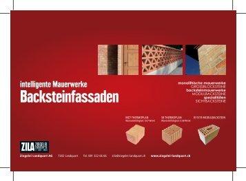 Backsteinfassaden - Ziegelei Landquart AG