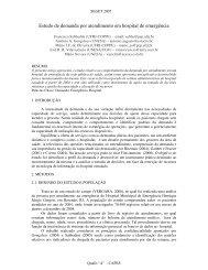 Estudo de demanda por atendimento em hospital de ... - aedb