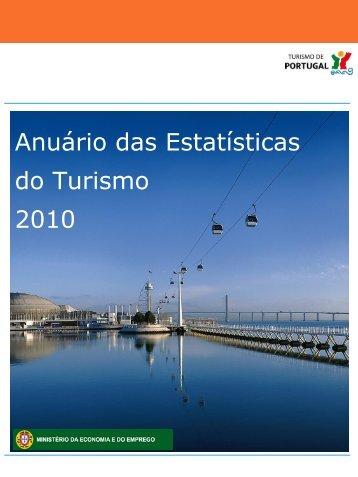 Anuário das Estatísticas do Turismo 2010 - Turismo de Portugal