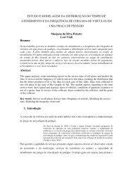 estudo e modelagem da distribuição do tempo de atendimento e da ...