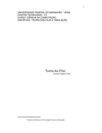 Teoria das Filas - DEINF/UFMA