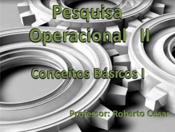 09 – Conceitos Básicos I - Prof. Roberto César