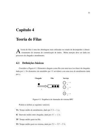 Capítulo 4 Teoria de Filas