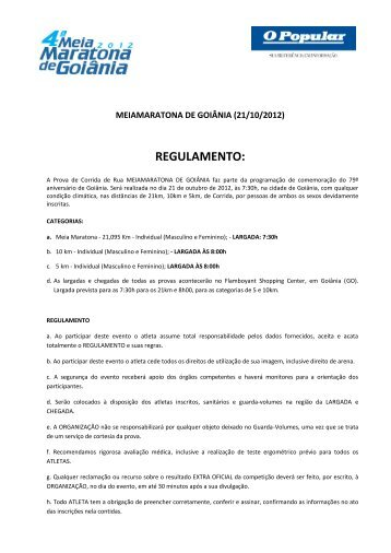 REGULAMENTO: - Velox Sports