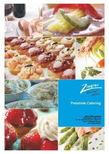 Angebotliste Catering