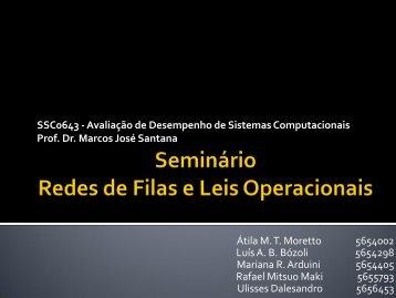 Seminário Redes de Filas e Leis Operacionais - LaSDPC