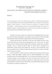 """Revista Eletrônica """"Fórum Paulo Freire"""" Ano 1 – Nº 1 – Julho 2005 ..."""