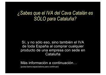 ¿Sabes que el IVA del Cava Catalán es SÓLO para ... - Wikiblues