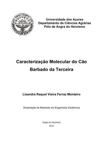 Caracterização Molecular do Cão Barbado da Terceira