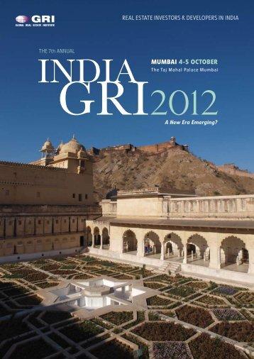 MUMBAI 4-5 OCTOBER - Global Real Estate Institute