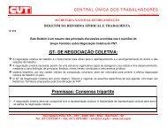 GT- DE NEGOCIAÇÃO COLETIVA: Premissas: Consenso tripartite