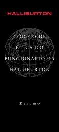CÓDIGO DE ÉTICA DO FUNCIONÁRIO DA HALLIBURTON