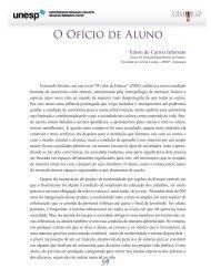 O Ofício de Aluno - Acervo Digital da Unesp