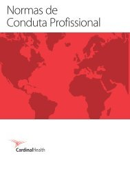 Normas de Conduta Profissional - Cardinal Health