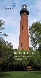 INTEGRITY FIRST Código de Ética - Genworth Financial